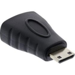 Adaptateur HDMI, InLine®, prise HDMI femelle sur Mini prise HDMI, contacts dorés