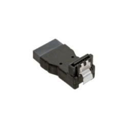 Adaptateur SATA prise/prise femelle, InLine®, anguleux vers bas, pour adapter
