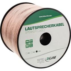 Câble haut-parleurs, InLine®, 2x 4mm², CCA, transparent, 100m