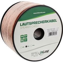 Câble haut-parleurs, InLine®, 2x 4mm², CCA, transparent, 50m
