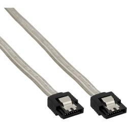 Câble de raccordement SATA, InLine®, avec languette de sécurité, transparent, 0,15m