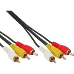 Câble Cinch, InLine®, Audio/vidéo 3x Cinch mâle/mâle 0,5m