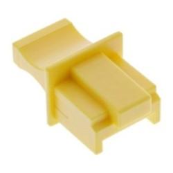 Protège-poussière, InLine®, pour RJ45 prise femelle, couleur: jaune 10/blister