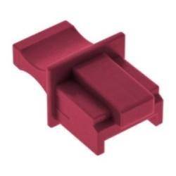 Protège-poussière, InLine®, pour RJ45 prise femelle, couleur: rouge 10/blister
