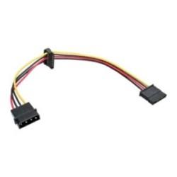 """Câble de courant en interne, InLine®, 1x 5,25"""" à 2x 15pin SATA, 0,30m"""