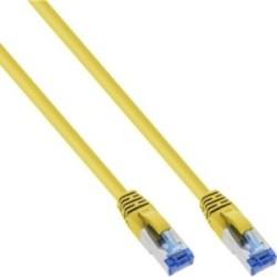Câble patch Cat.6(A) S-STP/PIMF, InLine®, sans halogènes 500MHz, jaune, 1,5m