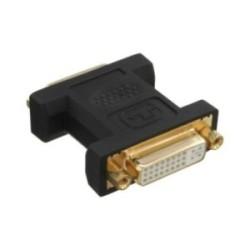 DVI-I Adaptateur, InLine®, numérique + analogique 24+5 prise femelle / prise femelle