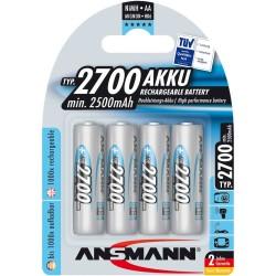 Ansmann accumulateur NiMH, Mignon (AA), 2700mAh, 4 x blister (5030842)