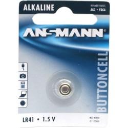 Ansmann pile bouton 1,5V alcaline type LR41 (5015332)