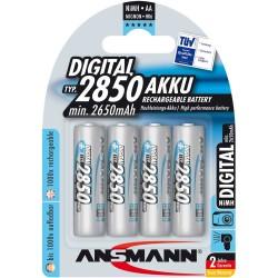 Ansmann accumulateur digital NiMH, Mignon (AA), 2850mAh, 4 x blister (5035092)