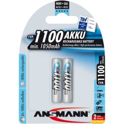 Ansmann accumulateur NiMH, Micro (AAA), 1100mAh, 2 x blister (5035222)