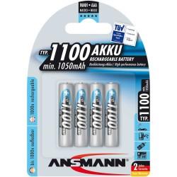 Ansmann accumulateur NiMH, Micro (AAA), 1100mAh, 4 x blister (5035232)