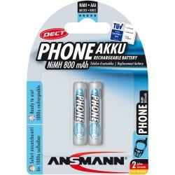 """Ansmann """"Phone DECT"""" accumulateur NiMH, Micro (AAA), 800 mAh, 2 pcs. (5035332)"""