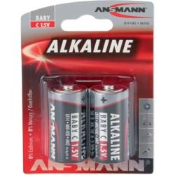 Ansmann alcaline batterie, Baby (C), 2 pcs. (1513-0000), 7,2mAh
