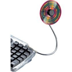 Ventilateur USB LED, 5 DELs, emballage en blister, BECO 610.09