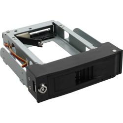 FANTEC MR-35SATA-A noir, Rack amovible disque dur pour Serial ATA i & II, hot plug, anti-vibration