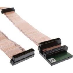 SCSI U320 Câble ruban, InLine®, 68 broches, 3 capteurs, pour 2 appareils, avec terminaison