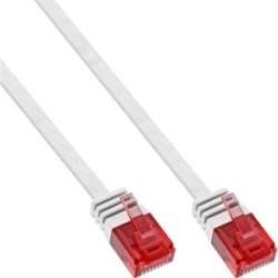 InLine® Patchkabel flach, U/UTP, Cat.6, weiß, 2m