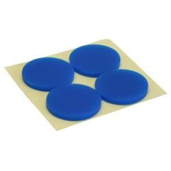 InLine® Gummi-Füße, für PC Gehäuse, 4er Pack, blau
