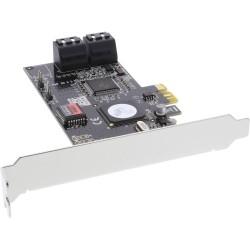InLine® Schnittstellenkarte, 4x SATA II, RAID 0,1,5,10 PCIe (PCI-Express), inkl. Low profile Slotblech