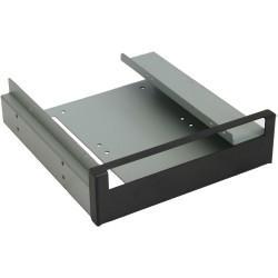 """InLine® Einbaurahmen, für Slimline Laufwerke und 2x 6,35cm (2,5"""") zu 13,34cm (5,25""""), mit Schrauben, schwarze Blende"""