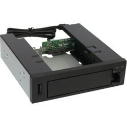 """InLine® HDD Caddy, Festplatten-Wechselrahmen, Hot Swap Gehäuse 13cm (5,25""""), für 3,5"""" SATA HDD"""