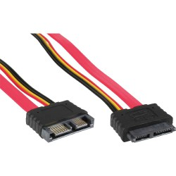 InLine® Slimline SATA Kabel, Slimline SATA 13pol. (7+6) Stecker / Buchse, 1m