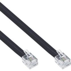 Câble modulaire RJ12, InLine®, mâle/mâle, 6 fils, 6P6C, 10m