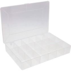 InLine® Kleinteile Leerbox, 18 Fächer, Abmessungen: 273x186x41mm