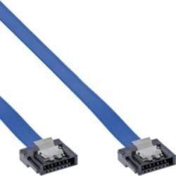 InLine® SATA 6Gb/s Anschlusskabel klein, mit Sicherheitslasche, 0,15m