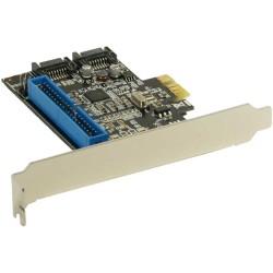 InLine® Schnittstellenkarte, 2x SATA 6Gb/s + IDE, RAID 0,1, PCIe 2.0 (PCI-Express)