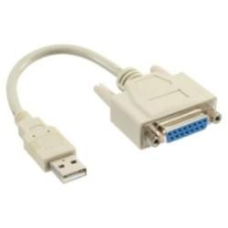 Câble adaptateur USB, InLine®, USB prise A sur 15 broches prise femelle