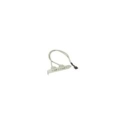 Équerre de fente USB 2.0, InLine®, 2x USB prise femelle sur 1x connecteur IDC 10 broches