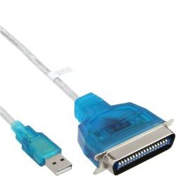 USB - 36 broches Centronic, InLine®, câble adaptateur imprimeuse, 1,8m