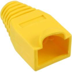 InLine® RJ45 Knickschutztülle, gelb, 10er Pack