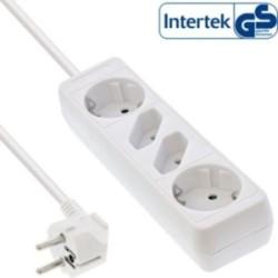 InLine® Steckdosenleiste, weiß, 4-fach, 2xSchutzkontakt + 2xEuro, 1,5m Zuleitung, mit Kindersicherung