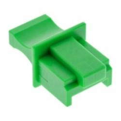 InLine® Staubschutz, für RJ45 Buchse, Farbe: grün, 100er Pack