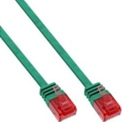 InLine® Patchkabel flach, U/UTP, Cat.6, grün, 1,5m