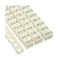 InLine® Kabelmarkierer 4mm, Nr.0-9, weiß, 100er Pack