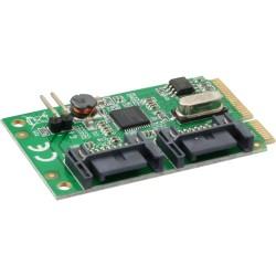 InLine® Mini-PCIe Karte, 2x SATA 6Gb/s