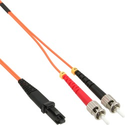 LWL câble duplex, InLine®, MTRJ/ST, 50/125µm, 2m