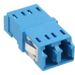 InLine® LWL Kupplung, Duplex LC/LC, singlemode, blau, Keramik-Hülse