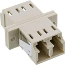 InLine® LWL Kupplung, Duplex LC/LC, multimode, beige, Keramik-Hülse, zum Einbau