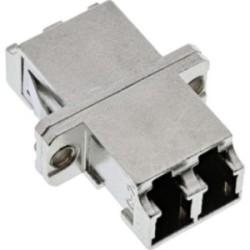 InLine® LWL Metall-Kupplung, Duplex LC/LC, multimode, Keramik-Hülse, zum Einbau
