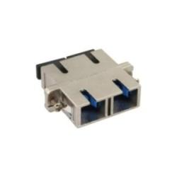 InLine® LWL Metall-Kupplung, Duplex SC/SC, singlemode, Keramik-Hülse, zum Einbau
