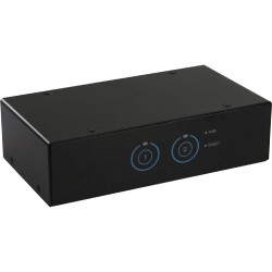 InLine® KVM Desktop Switch, 2-fach, VGA, USB 3.0 Hub, mit Audio