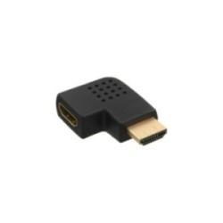 InLine® HDMI Adapter, Stecker / Buchse, seitlich links gewinkelt, vergoldete Kontakte, 4K2K kompatibel