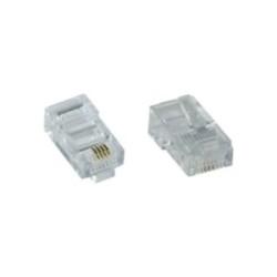 Prise modulaire 8P4C RJ45 à Crimper sur câble-ruban (ISDN), 10 pièce pack