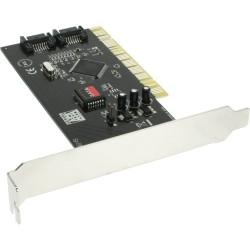 Carte d'interface, InLine®, contrôleur SATA 2 voies, PCI