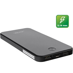 InLine® USB Zusatzakku PowerBank 4000mAh, mit LED Anzeige, iPhone-Form